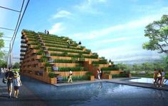 Pavilion of Dream Terraces: Viet Nam's Expo 2015 Pavilion Covered in Rice Paddies