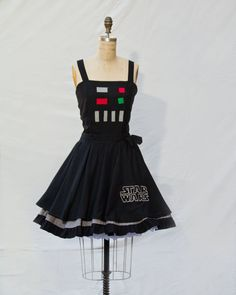 Darth Vader Star Wars Retro Style Dress by Lameasaurus on Etsy