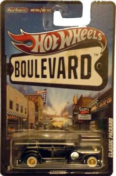 2012 Hot Wheels Boulevard Legends CLASSIC PACKARD 1:64 Scale Diecast Real Riders by Mattel. $29.95. Diecast. Real Riders. 1:64 Scale. Metal/Metal. HOT WHEELS BOULEVARDTM Assortment: Take a trip through automotive history with the Hot Wheels BoulevardTM assortment. Celebrate automotive icons - both good and bad - as we dig through the archives to create some of the hottest castings and most thrilling designs to ever hit the pavement! These classics include concept cars, show rods,...