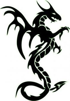 Dragon Tattoos Idea For Women And Men-Tribal Dragon Tattoo Meaning