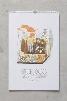 Greenhouses 2017 Calendar #anthropologie