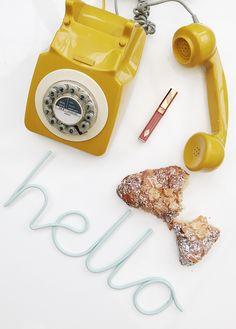 Flatlay Inspiration   Retro Phone   Weekend