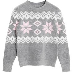 Chicnova Fashion Preppy Style Vintage Print Pullover Sweater ($24) ❤ liked on Polyvore