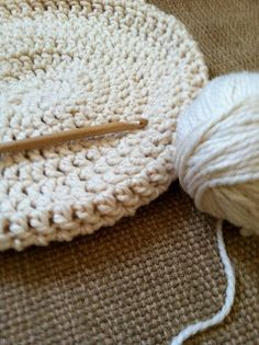 Pumpkin Loves: DIY crochet pouf