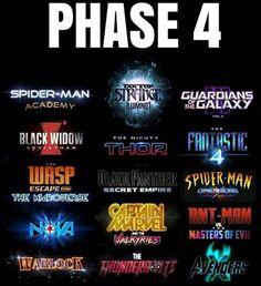 Marvel Phase Four Marvel Dc Comics, Marvel Avengers, Marvel Instagram, Upcoming Marvel Movies, Fantastic Four Movie, Die Rächer, Phase 4, Marvel Cinematic Universe, Dc Universe