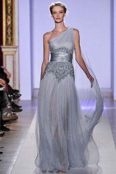 Modern Goddess gown Zuhair Murad 2013 gray