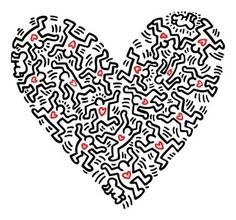 keith haring heart of figures