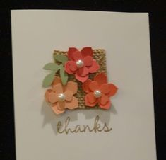 Petite Petals Punch, Pansy Punch - a CAS card that packs a lot of punch!