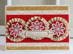 """("""" """") Pretty snowflakes, like the clean lines--looks classy  [Anna Griffin Christmas card"""
