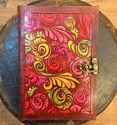 Hand Minakari Leather Diary, leather journal, Sketchbook, Drawing Book | TheHumanEra - on ArtFire