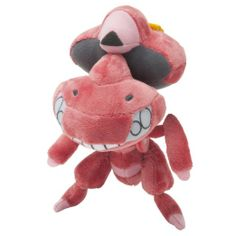 Amazon.com : Pokemon Center Original Red Genesect Plush Doll : Toy Figures : Toys & Games
