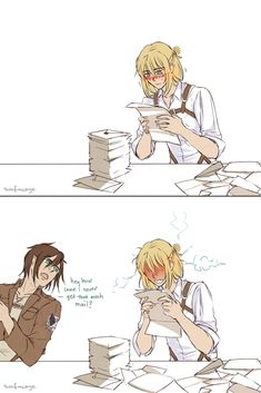 http://attackonarchive.tumblr.com/post/89194399569/surfacage-armin-gets-fan-mail-every-mail-call https://www.pinterest.com/pin/466615211364682286/ https://www.pinterest.com/pin/384283780677655230/ ...