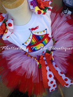 Happy Birthday Carnival TuTu Set Ages 19 by flutterbyetutu on Etsy, $55.50