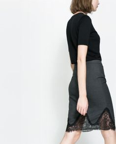Image 4 of LACE SHEATH SKIRT from Zara