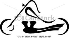 EPS Vector of Motorbike - Black silhouette of a motorcycle on a ...