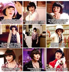 The many quotes from Phryne Fisher