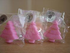 DEWBERRY - XMAS TREE HANDMADE SOAPS. £2.25