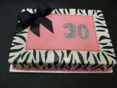 Pretty Birthday Cakes women animal print | ... Cake > 30th Pictures Of Zebra Print Birthday Cakes Photo For Women
