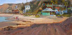 Beach Walk by Jim Wodark Oil ~ 8 x 16