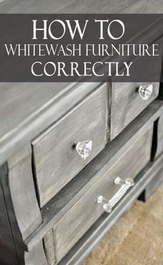 vintage furniture Learn how to whitewash furniture correctly, and with multiple color options! White Washed Furniture, Distressed Furniture, Rustic Furniture, Cool Furniture, Furniture Design, Furniture Outlet, Furniture Stores, Discount Furniture, Antique Furniture