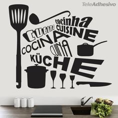 "Universe of goods - Buy ""Creative personality tableware wall stickers vinyl sticker Kitchen restaurant is decorated in Art Wallpaper for only USD. Inmobiliaria Ideas, Ideas Para, Sticker Citation, Kitchen Canvas, Decoration Stickers, Cheap Wall Decor, Cheap Wall Stickers, Kitchen Wall Stickers, Textured Walls"