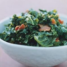Kale with Garlic and Bacon. My favorite!!