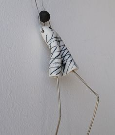 Green Parachute figurine ceramic porcelain Wall Art made in Greece