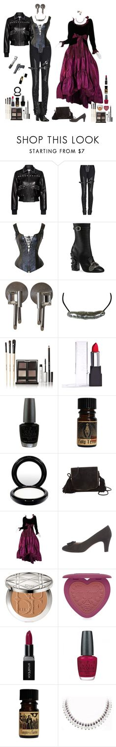 """""""I sure hope you can run in heels, Countess"""" by shulamithbond ❤ liked on Polyvore featuring Beretta, RED Valentino, Gucci, Versace, Bobbi Brown Cosmetics, OPI, MAC Cosmetics, Yves Saint Laurent, Salvatore Ferragamo and Christian Dior"""