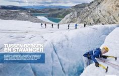Guided glacier hike on the Folgefonna glacier in Hardanger - featured in the Dutch Reizen