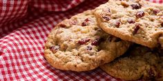 Oatmeal Raisin Cranberry Cookies recipes Nonstick cooking spray 1¼ cups whole wheat flour 1 cup old-fashioned rolled oats ½ tsp. baking soda 1 scoop Beachbody Whey Protein Powder, Vanilla Flavor ¾ cup thawed apple juice concentrate ½ cup unsweetened applesauce ¼ cup raisins ¼ cup unsweetened dried cranberries