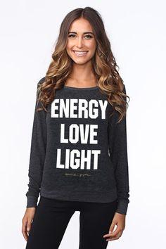 ENERGY LOVE LIGHT SAVASANA PULLOVER VINTAGE BLACK | Spiritual Gangster  Large
