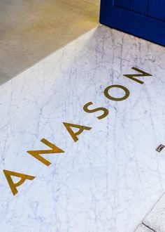 Somer Sivrioglu's Anason #inlaid #logo #gold