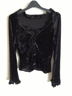 90s goth grunge black velvet top by 66JAMJARS on Etsy, $108.00