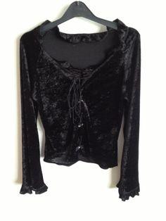 90s goth grunge black velvet top by 66JAMJARS on Etsy, $108.00