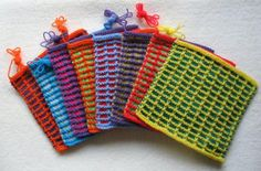 Knitted Squares. High demand #Charity items. Click image to find out more about Knitting for Charity. (Photo courtesy of knit-a-square.com) #Fundraising