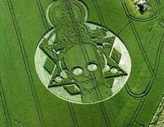 Human figure? 2001 crop circle photo by Ken Wilber