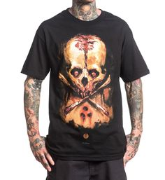 Sullen Art Collective Clothing Leiknes Badge Tee Skull Tattoo Art T-shirt #SullenClothing #GraphicTee