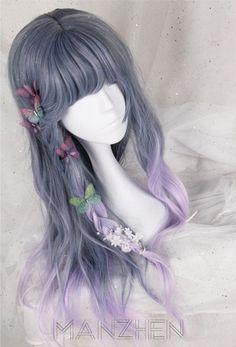 Kawaii Hairstyles, Pretty Hairstyles, Wig Hairstyles, Anime Wigs, Anime Hair, Cosplay Hair, Cosplay Wigs, Pastel Wig, Kawaii Wigs