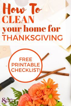 If you need to clean for holidays like Thanksgiving, I understand! Here is a free printable checklist of what to focus on deep cleaning when you are short on time. Cleaning Checklist, Cleaning Hacks, Cleaning Schedules, Cleaning Recipes, Essential Oils For Babies, Clean House Schedule, Holiday Planner, Cross Stitch Kitchen, Cleaners Homemade