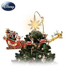 Illuminated Rotating Disney Tree Topper  How cute is this? :)