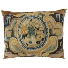 18th Century Verdure Tapestry Pillow   From a unique collection of antique and modern pillows and throws at https://www.1stdibs.com/furniture/more-furniture-collectibles/pillows-throws/