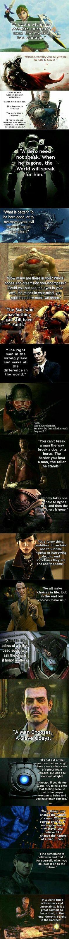 Games teaching us philosophy