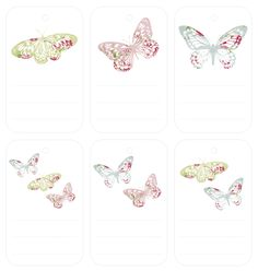 Vintage Butterflies Gift Tags(2)