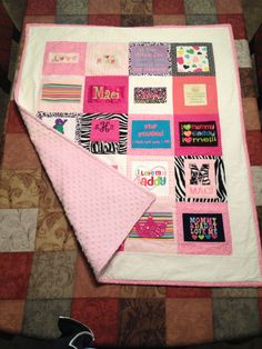 Baby Keepsake Quilt (made w/baby clothes)