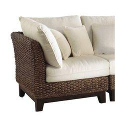 Panama Jack Sunroom Sanibel Corner Chair with Cushion Color: Canvas Taupe
