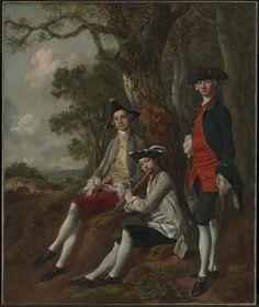 Thomas Gainsborough Peter Darnell Muilman, Charles Crokatt and William Keable in a Landscape c.1750