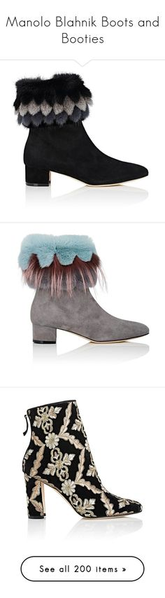 Manolo Blahnik Boots and Booties featuring women's fashion, shoes, boots, ankle booties, ankle boots, low heel booties, short suede boots, suede bootie, bootie boots and suede ankle bootie #Manolo_Blahnik #Manolo_Blahnik_Booties #Manolo_Blahnik_Boots