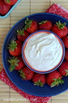 Coconut Cream Fruit Dip - coconut cream and marshmallow cream make this dip irresistible to dip your fruit in