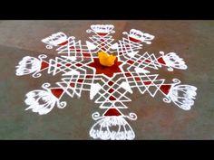 New year rangoli Rangoli Borders, Rangoli Border Designs, Kolam Rangoli, Beautiful Rangoli Designs, Rangoli With Dots, Simple Rangoli, Sankranthi Muggulu, Alpona Design, New Year Rangoli
