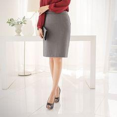 Korea womens shopping mall [styleberry] Simple Basic HLine Suits Skirt / Size : S,M / Price : 22.34 USD #korea #fashion #style #fashionshop #styleberry #lovely #skirt #hline #basic